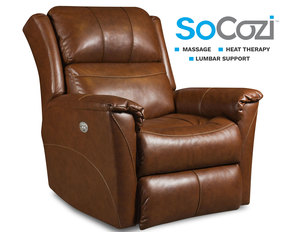 Shimmer Rocker Recliner w/ Heat + Massage + Lumbar + Free Power Headrest