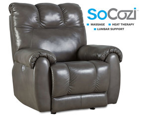 Top Flight Rocker Recliner w/ Heat + Massage + Lumbar + Free Power Headrest