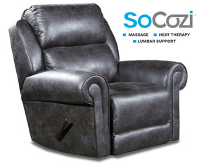Canyon Ranch Rocker Recliner w/ Heat + Massage + Lumbar + Free Power Headrest