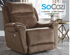 Gold Medal Rocker Recliner w/ Heat + Massage + Lumbar + Free Power Headrest