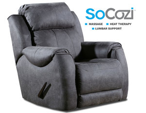 Safe Bet Rocker Recliner w/ Heat + Massage + Lumbar + Free Power Headrest