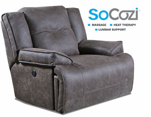 Major League  Reclining Chair and 1/2 w/ Massage + Heat + Lumbar + Free Power Headrest