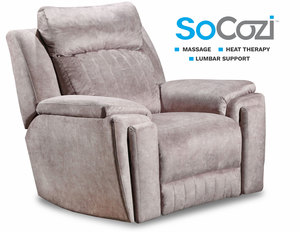 Silver Screen Wallhugger Reclining Chair +  Massage + Heat + Lumbar + Free Power Headrest