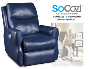 Fame LIFT Recliner w/ Heat + Massage + Lumbar + Free Power Headrest