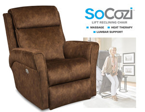 Radiate LIFT Recliner w/ Heat + Massage + Lumbar + Free Power Headrest