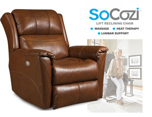 Shimmer LIFT Recliner w/ Heat + Massage + Lumbar + Free Power Headrest
