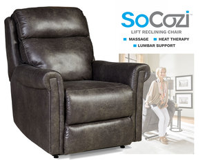 Superstar LIFT Recliner w/ Heat + Massage + Lumbar + Free Power Headrest