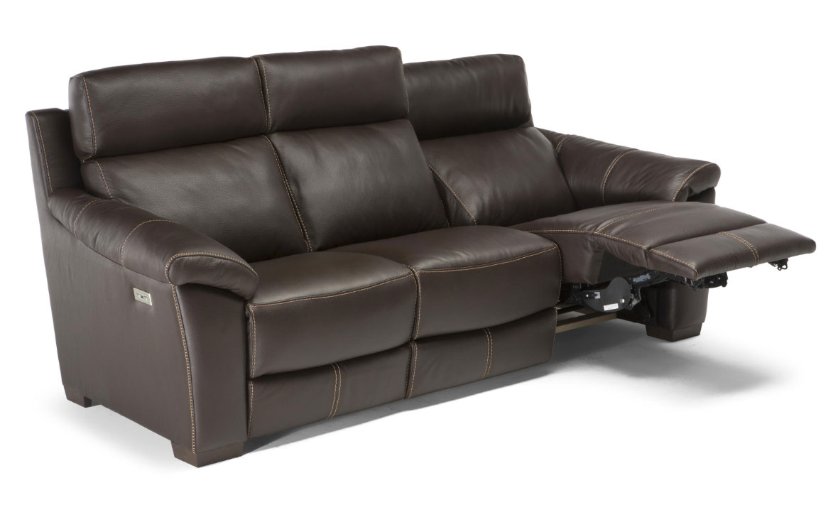 Fine C127 Top Grain Leather Reclining Sofa W Power Sofas And Short Links Chair Design For Home Short Linksinfo