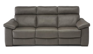 Natuzzi C126 Top Grain Leather Reclining Sofa w/ Power Headrest