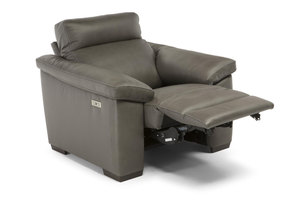C126 Power Recliner w/ Power Headrest (Top Grain Leather)
