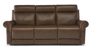 Ironico C124 Top Grain Leather Reclining Sofa w/ Power Headrest