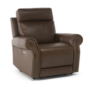 Ironico C124 Leather Power Recliner w/ Power Headrest