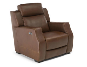 Tenero C122 Power Recliner w/ Power Headrest ( Top Grain Leather) - Custom Leathers