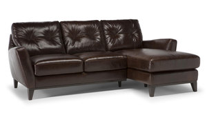 C129 Top Grain Leather Sectional