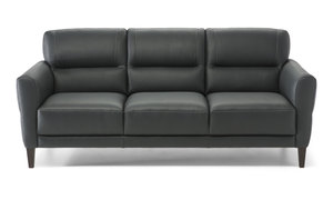 "C131 78"" Top Grain Leather Sofa"