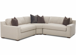 NEW - Becks Sectional (Features Down Cushions)