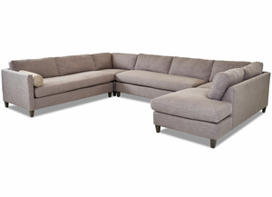 NEW - Brinley Sectional w/ Down Seating Cushions