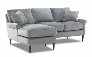 NEW - Chelsea Transitional Sectional w/ Down Cushions
