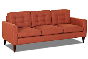 "NEW - Florence 85"" Mid- Century Modern Sofa w/ Down Cushions"