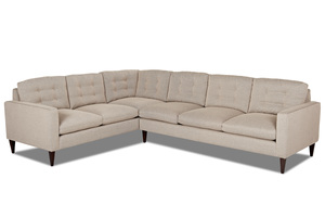 NEW - Florence 2 Piece Modern Sectional w/ Down Cushions