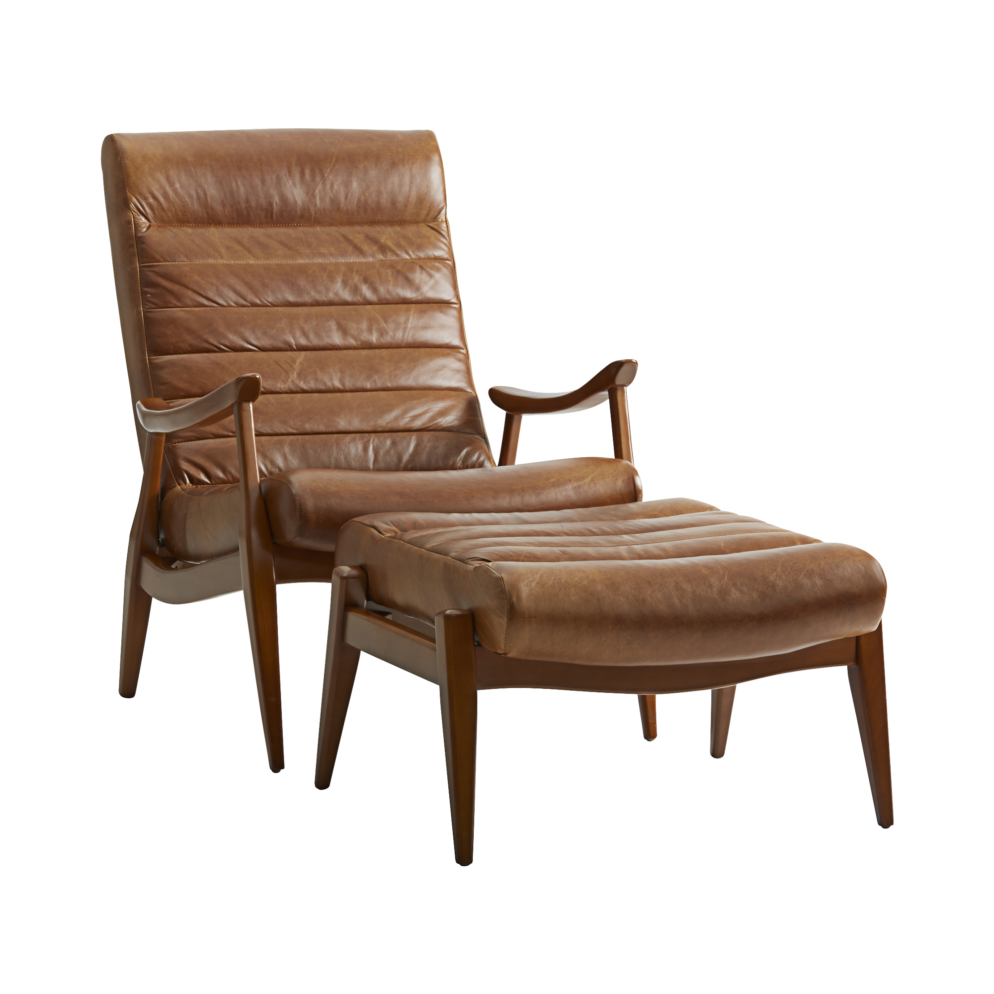Hans Mid-Century Modern Top Grain Leather Chair | Sofas and ...