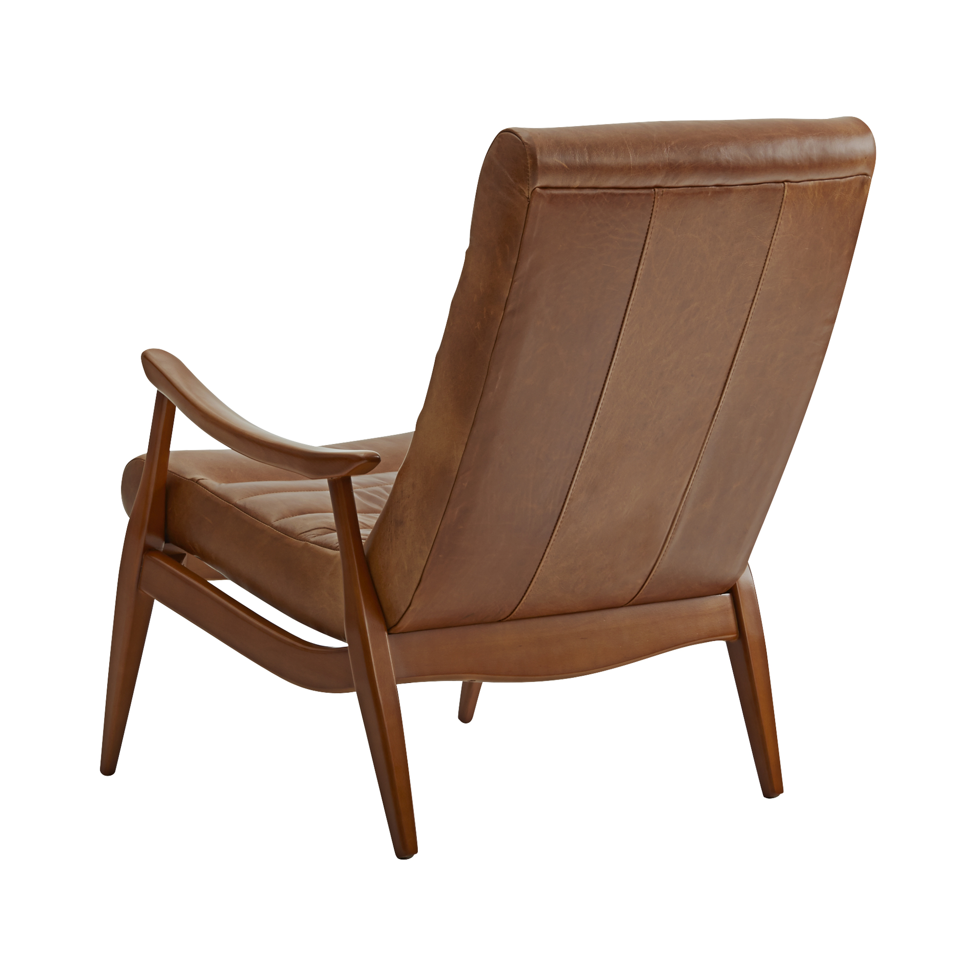 Hans Mid Century Modern Leather Chair Made To Sofas And Sectionals