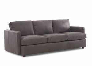 "NEW - Liberty All Leather 94"" Sofa w/ Down Cushions"