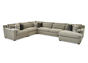 NEW - Roan Casual Sectional w/ Down Cushions