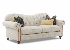 "NEW - Shelby 92"" Traditional Sofa w/ Nail Head Trim and Down Cushions"