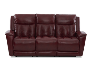 NEW - Clifford Leather Power Reclining Sofa w/ Power Headrest