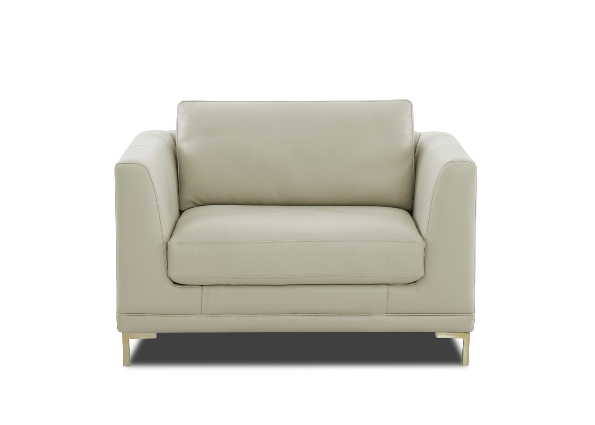 Picture of: Ellis 52 Extra Wide Modern Leather Chair Sofas And Sectionals