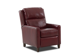 NEW - Falco Leather Power High Leg Reclining Chair w/ Power Headrest