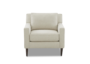 NEW - Luca Transitional Chair and Ottoman
