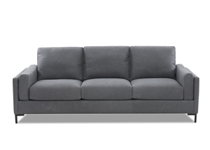 "NEW - Mystique 98"" All Leather Sofa w/ Down Cushions"
