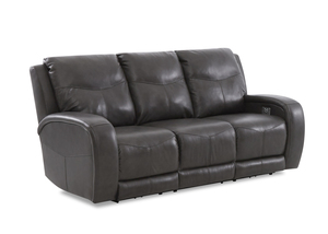 NEW - Terra Leather Power Reclining Sofa w/ Power Headrest (Optional Power Lumbar)