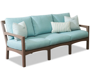 Delray Realis Teak Outdoor Sofa (Shadow Finish)