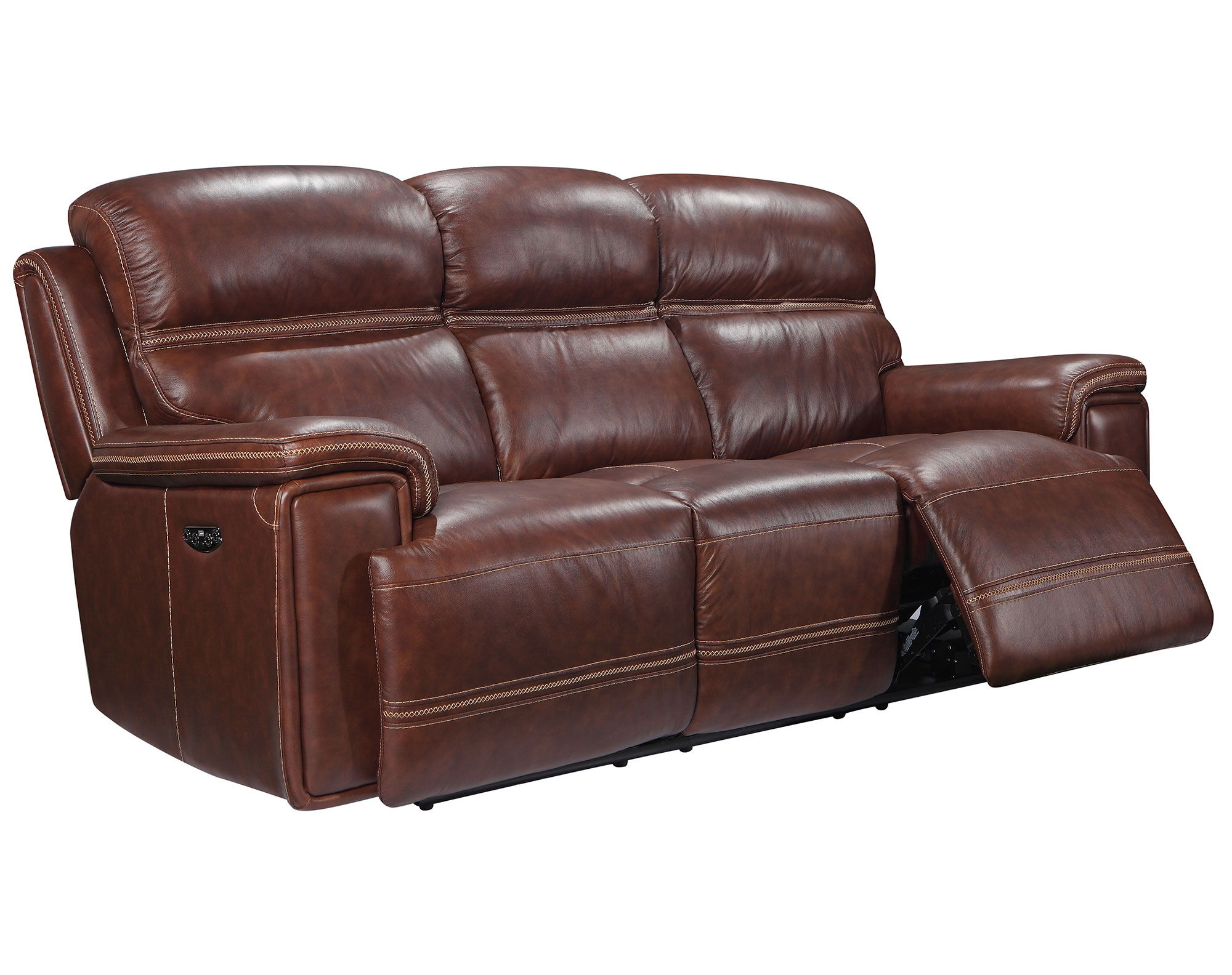 Terrific Fresno 91 Leather Reclining Sofa W Power Sofas And Pabps2019 Chair Design Images Pabps2019Com