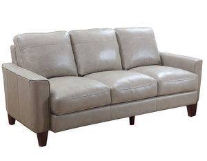 "Chino 82"" All Leather Sofa in Sand"