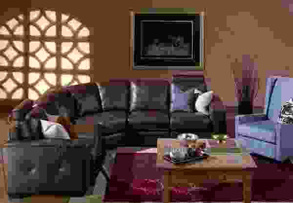 Push 77515 - 70515 Sectional- 450 Fabrics and Leathers