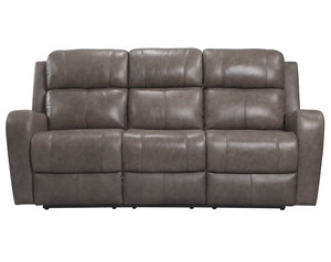 Cortana Power Leather Reclining Sofa (Stone)