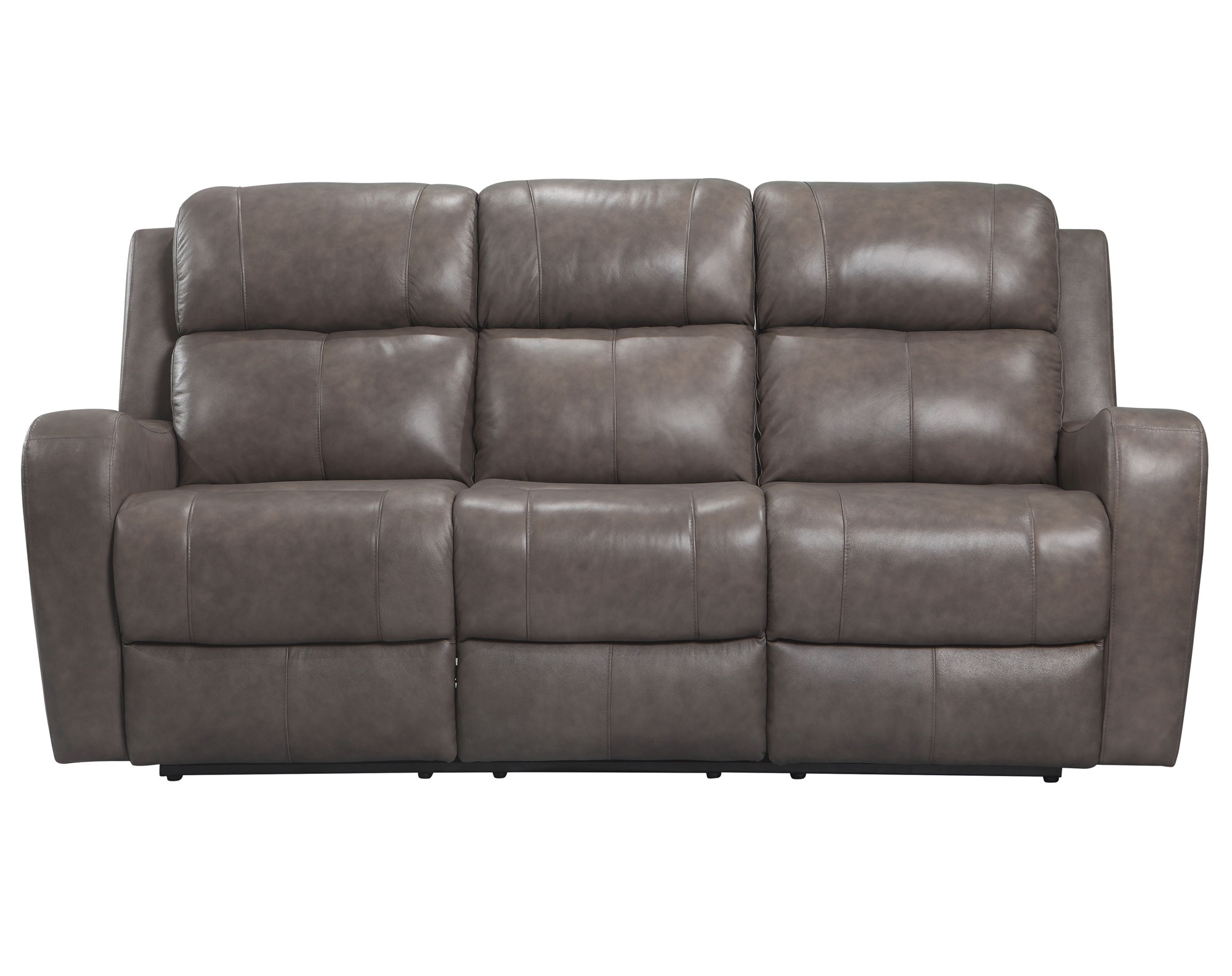 Cortana Power Leather Reclining Sofa (Stone) | Sofas and Sectionals
