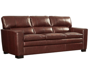"Leland 85"" All Leather Sofa"