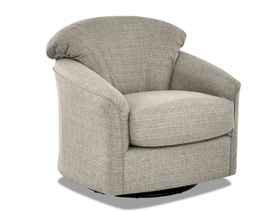 Charley Swivel Gliding Accent Chair (3 Fabric Colors)