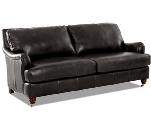 "Charlotte 82"" Leather Sofa (Choice of Colors)"