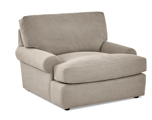 Emily Down Blend Oversized Chair and Ottoman (Choice of Colors)