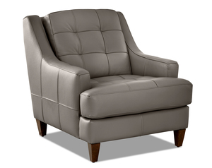 Franco Leather Accent Chair and Ottoman (3 Colors)