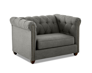 Keaton Tufted Oversized Chair and Ottoman (Choice of 3 Colors)
