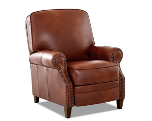 Kelsey Leather Push Back High Leg Reclining Chair (Choice of 3 Colors)