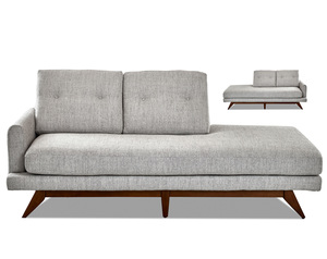 Kendal Wood Base Chaise (Left or Right Side) - Choice of 2 Colors