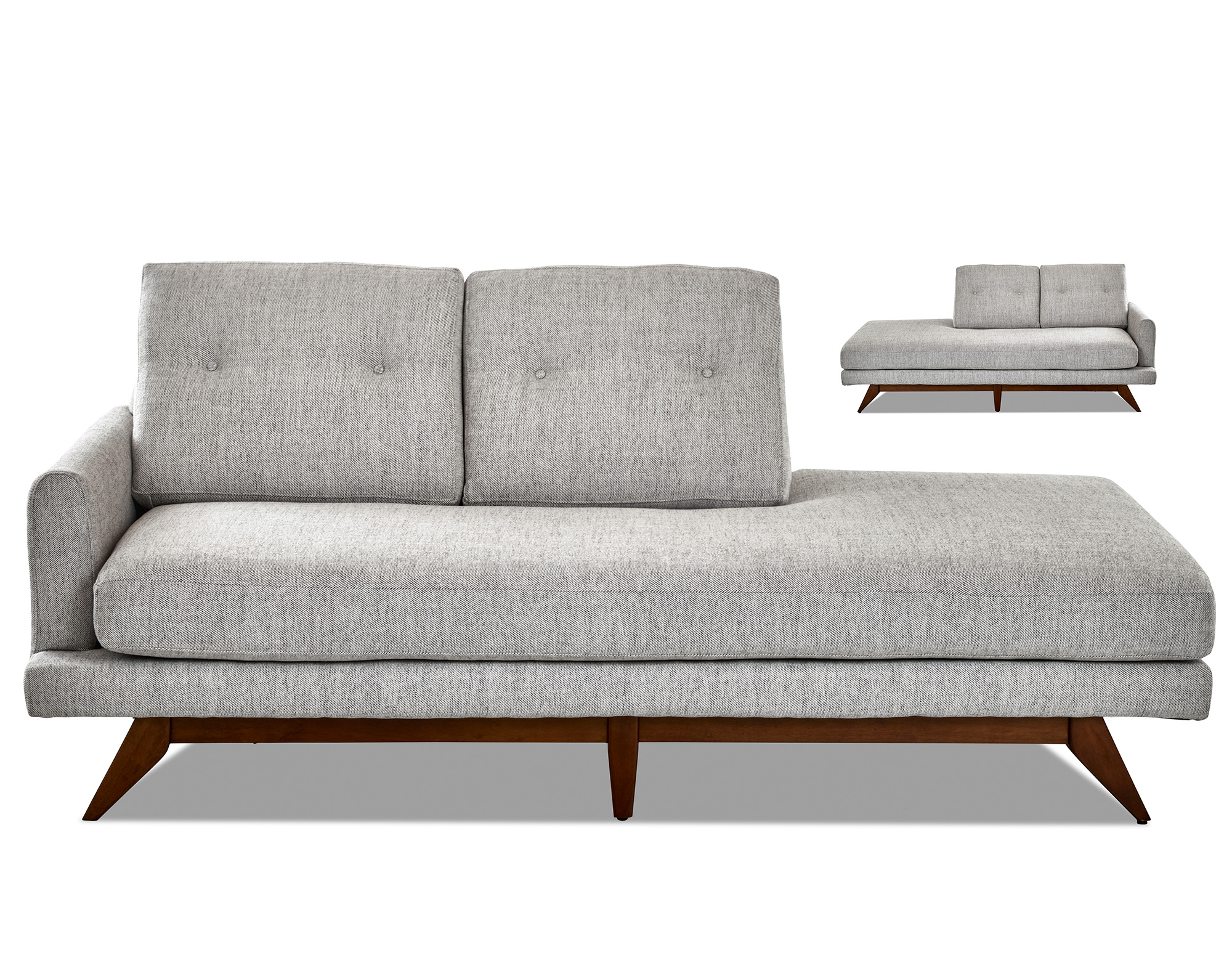 Surprising Kendal Wood Base Chaise Left Or Right Side Sofas And Beatyapartments Chair Design Images Beatyapartmentscom